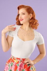 50s Logo Feminin Shirt in White Sparkling Spume