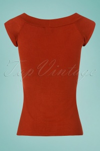 Retrolicious Rust Boat Neck Top  110 20 25130 20180305 0009W
