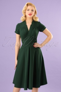 50s Elena Gia Swing Dress in Emerald