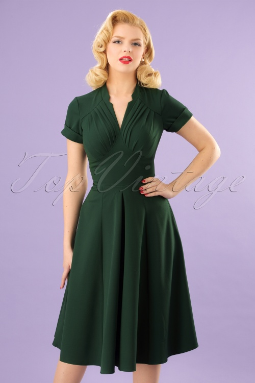 Miss Candyfloss New signature Emerald Miss Claudette Dress 102 40 24172 20180215 0006W