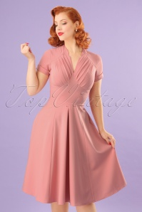 50s Elena Gia Swing Dress in Blush