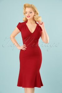 Vintage Chic Red Wrap Dress 100 20 24511 20180216 0009W