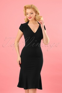 Vintage Chic Black Wrap Dress 100 10 24512 20180216 0005W
