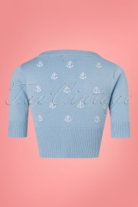 Dancing Days by Banned Set Sail Anchor Cardigan in Baby Blue 140 39 24331 20180312 0003w