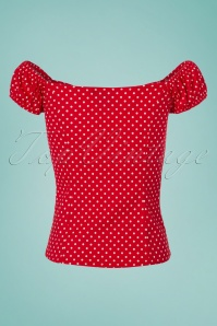 Dancing Days by Banned Polkadot Off shoulder Top 110 27 24255 20180312 0004W