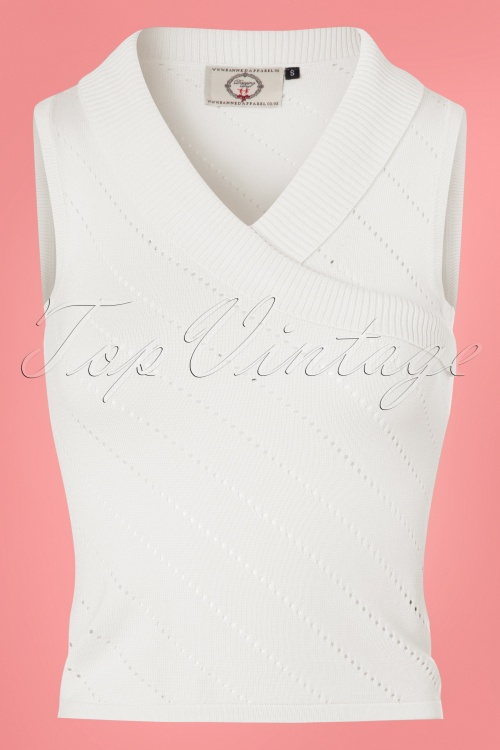 50s Its A Wrap Knit Top In Off White