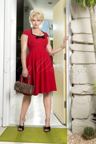 50s Karen Swing Dress in Red