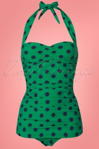 Esther Williams Green and Blue Polkadot Bikini 24144 20180308 0001W