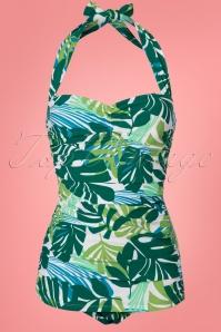 Esther Williams Tropical Leaf Bathing Suit 24143 20180308 0002W