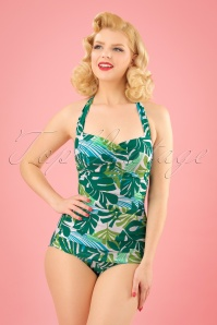 Esther Williams Tropical Leaf Bathing Suit 24143 20180308 1W
