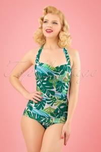 Esther Williams Tropical Leaf Bathing Suit 24143 20180308 1W