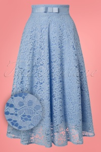Dancing Days by Banned Love Lace Blue Skirt 122 30 24313 20180313 0006W1