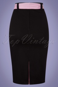 Dancing Days by Banned Grease Collection Black and Pink Pencil Skirt 120 10 24339 20180313 0008w