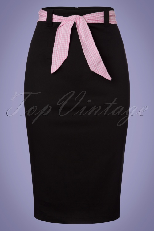 Dancing Days by Banned Grease Collection Black and Pink Pencil Skirt 120 10 24339 20180313 0003w