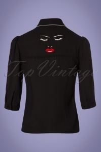 Dancing Days by Banned Model Face Black Blouse 112 10 24319 20180313 0007W