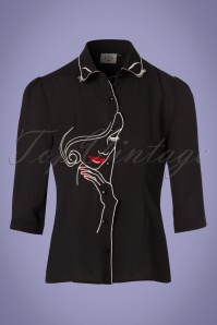 Dancing Days by Banned Model Face Black Blouse 112 10 24319 20180313 0003W