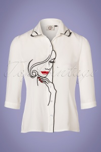 Dancing Days by Banned Model Face White Blouse 112 50 24248 20180313 0008W