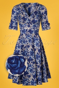 Unique Vintage Delores Swing Dress in Blue 102 59 24907 20180313 0002wv