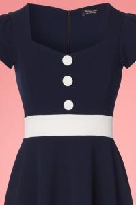 Vintage Chic Scuba Navy Cream Blue Dress 102 31 24494 20180313 0001c