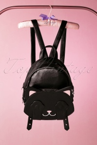 Banned Retro 50s A Cat With Tricks Backpack in Black