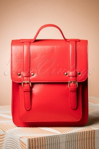 Banned Alternative 60s Cohen Handbag in Radiant Red