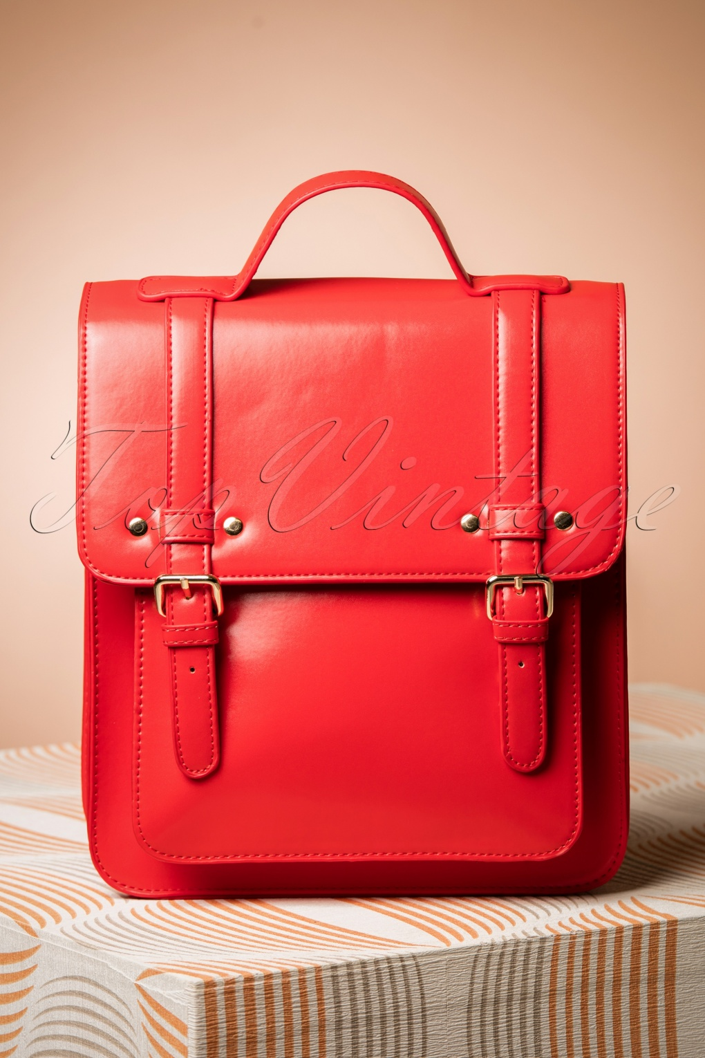 1950s Handbags, Purses, and Evening Bag Styles 60s Cohen Handbag in Radiant Red £38.43 AT vintagedancer.com