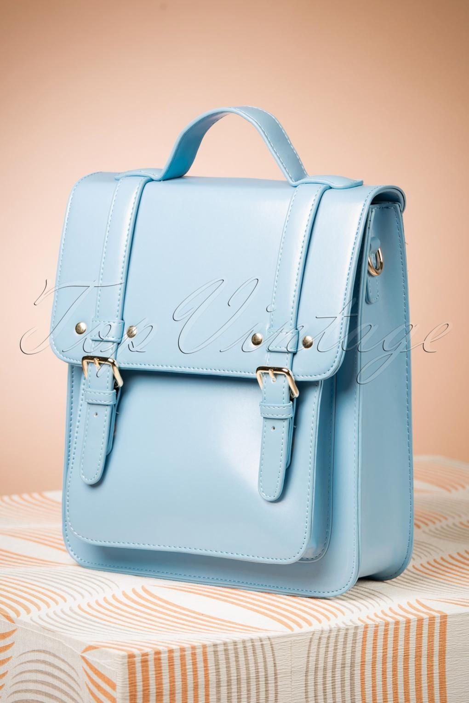 Vintage & Retro Handbags, Purses, Wallets, Bags 60s Cohen Handbag in Baby Blue £37.11 AT vintagedancer.com
