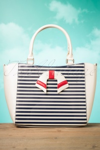 50s Nautical Vibes Vintage Handbag in Cream