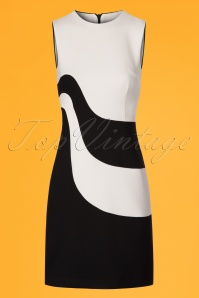 Marmalade Fitted Two Tone 60s Black and White Dress 106 51 24470 20180313 0001w