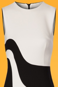 Marmalade Fitted Two Tone 60s Black and White Dress 106 51 24470 20180313 0001c