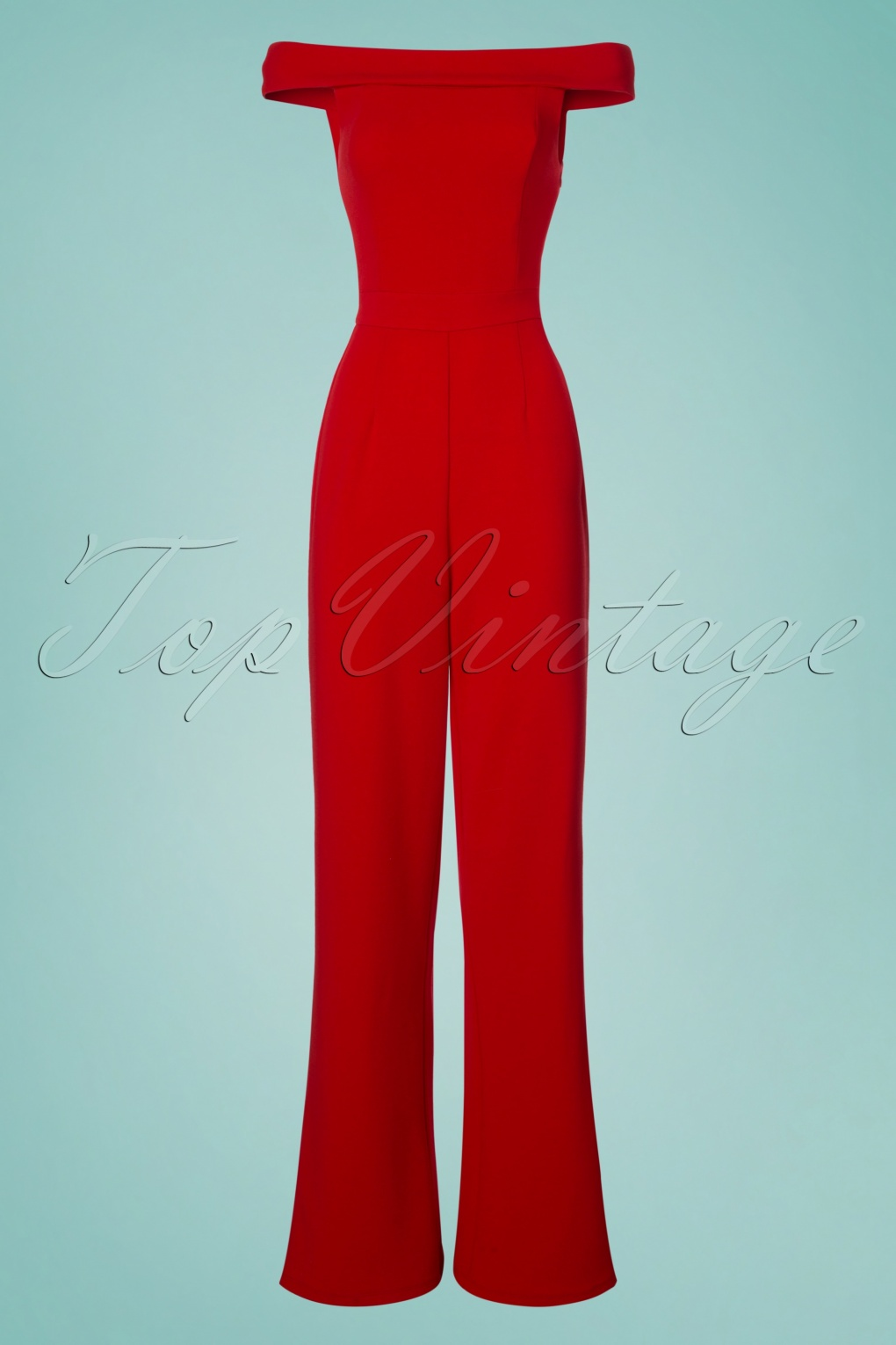Vintage High Waisted Trousers, Sailor Pants, Jeans 70s Mono Gamboge Jumpsuit in Red £79.38 AT vintagedancer.com