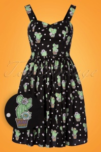 Bunny Black Polkadot Cactus Swing Dress 102 14 24057 20180315 0001W1