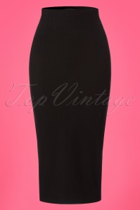 50s Penny Pencil Skirt in Black