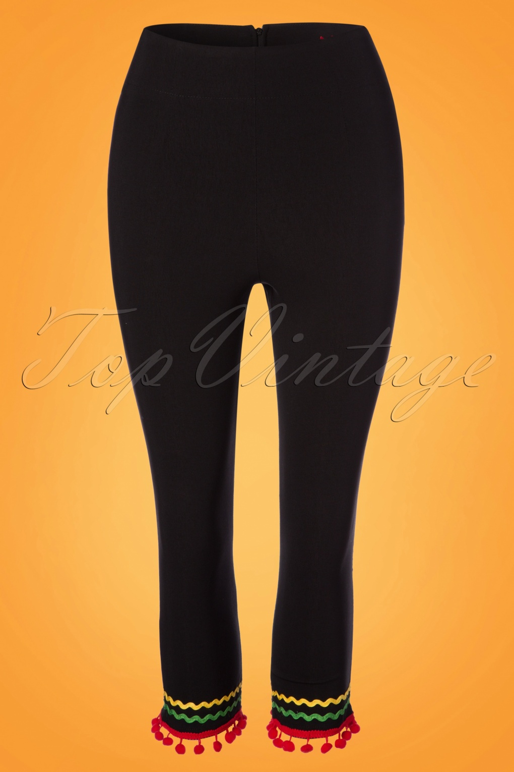1950s Pants & Jeans- High Waist, Wide Leg, Capri, Pedal Pushers 50s Marianne Capris in Black £26.34 AT vintagedancer.com