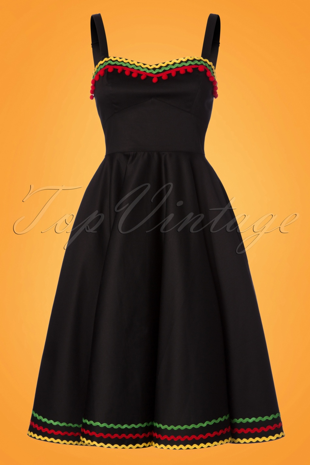 1950s Inspired Fashion: Recreate the Look 50s Marianne Swing Dress in Black £56.70 AT vintagedancer.com