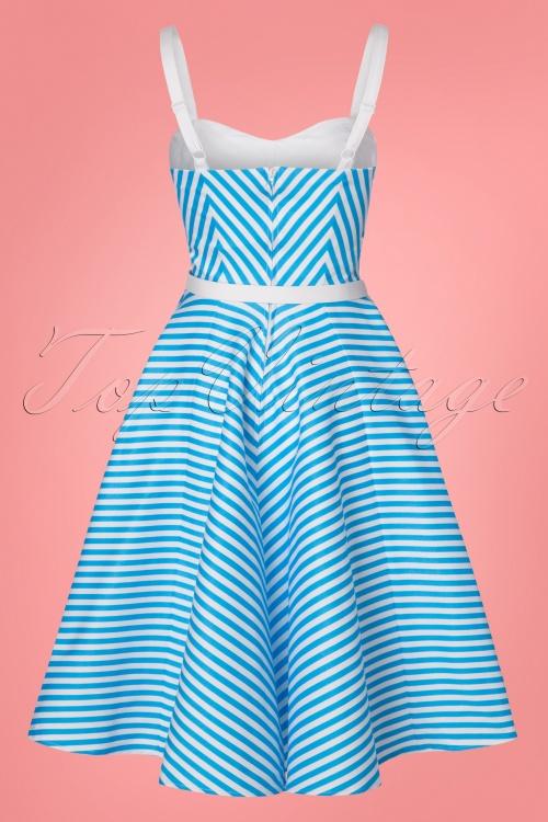 0873f92ee4328 Vixen by Micheline Pitt 50s Dollface Striped Swingdress 102 39 24526  20180315 0014W