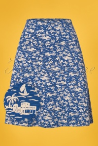 60s Timboektoe Borderskirt in Lolite Blue