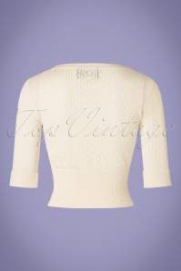 Collectif Clothing Linda Cardigan in Ivory 20636 20161130 0009W