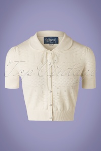 40s Carly Cardigan in Ivory White