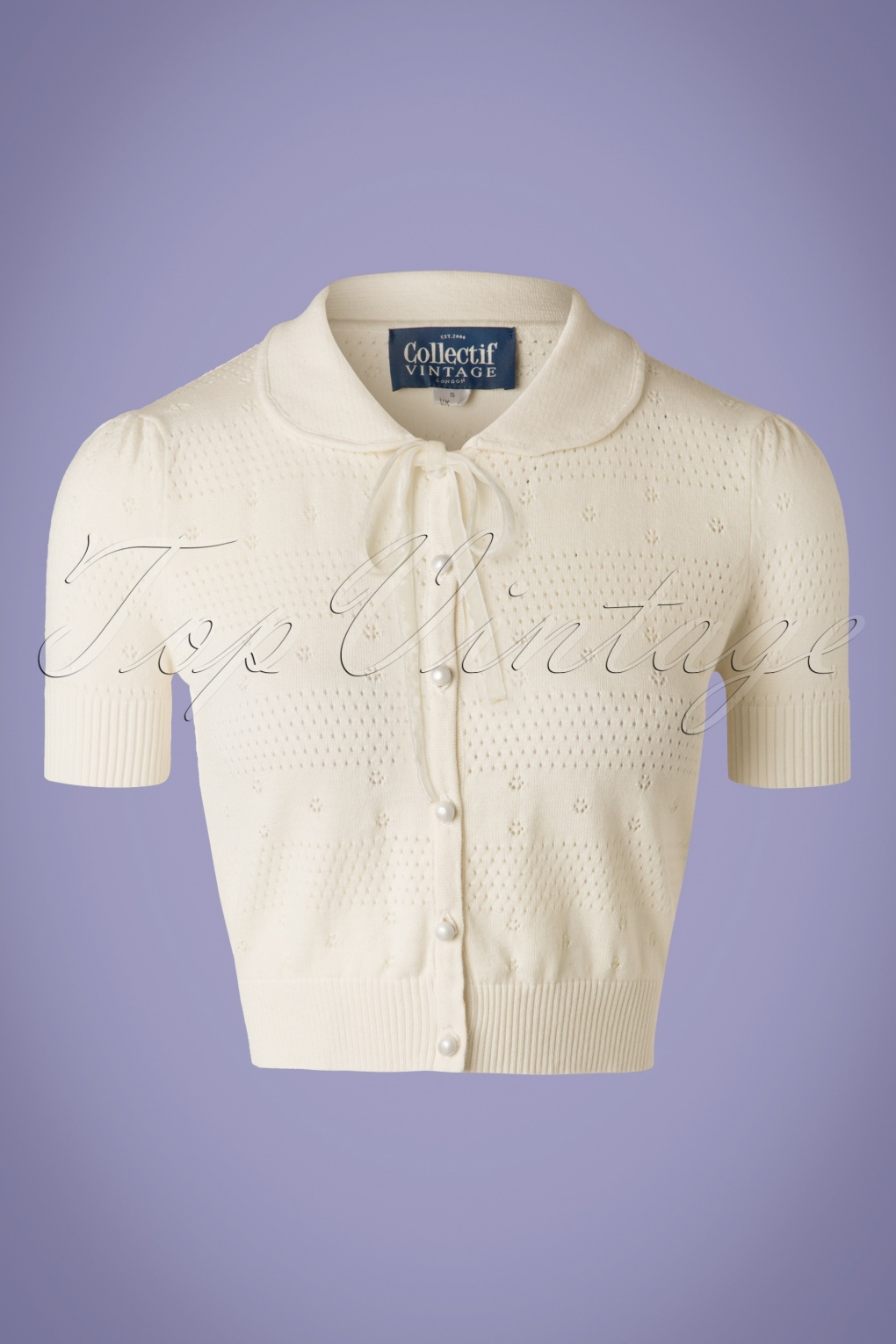Vintage Sweaters: Cable Knit, Fair Isle Cardigans & Sweaters 40s Carly Cardigan in Ivory White £37.11 AT vintagedancer.com