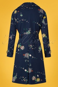 King Louie Dark Navy Floral Trenchcoat 151 39 23189 20180316 0010W