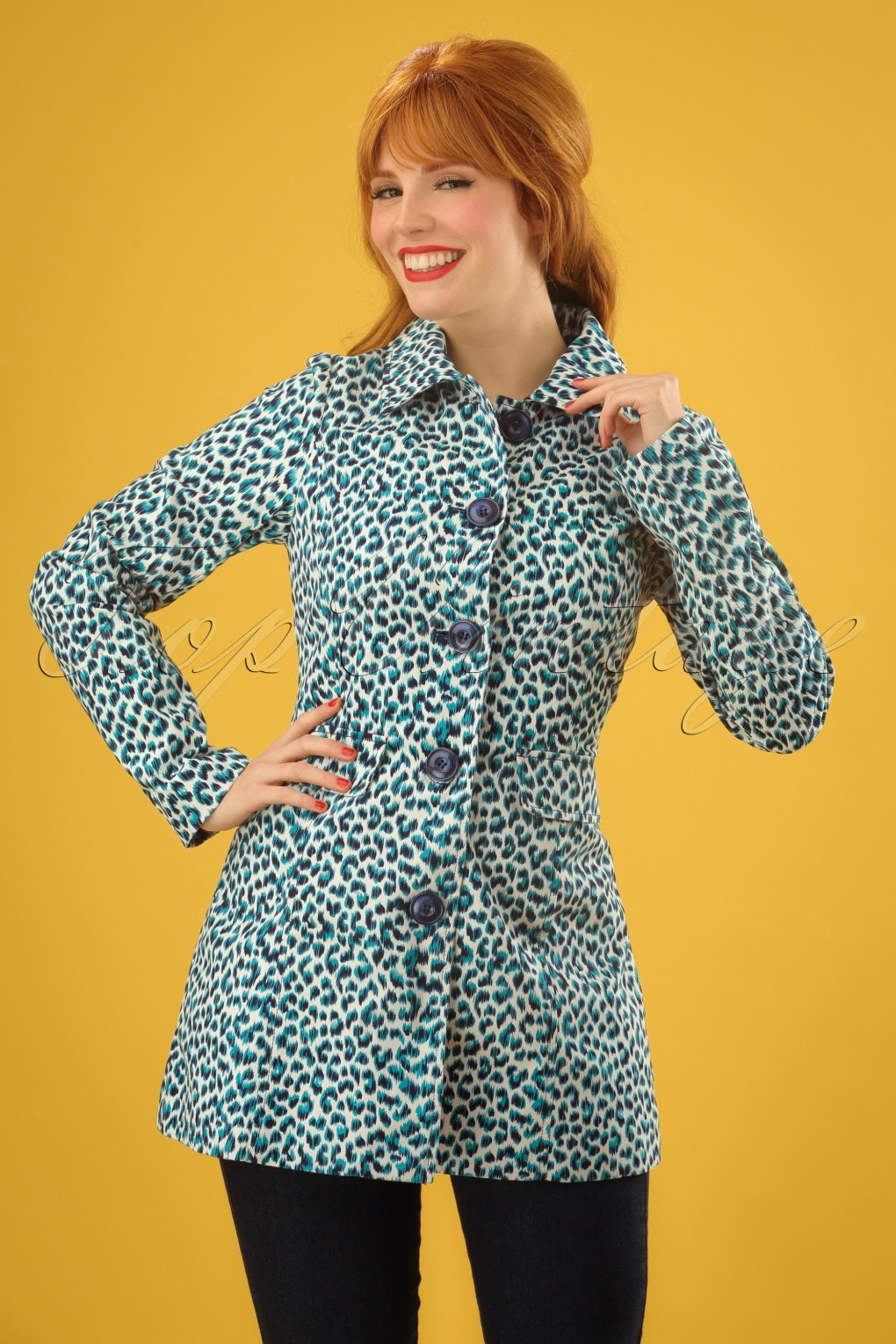 Vintage Coats & Jackets | Retro Coats and Jackets 60s Bella Catnip Coat in Putty Ecru £99.32 AT vintagedancer.com