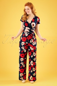 King Louie Farah Floral Jumpsuit 133 39 23316 20180316 01W