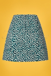 King Louie Olivia Skirt in Green Leopard 120 57 23178 20180316 0007W