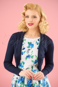 Jean knitted Bolero in Navy