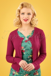 50s Getaway Cardigan in Raspberry