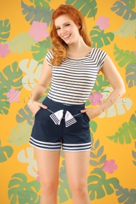 50s Set Sail Shorts in Navy