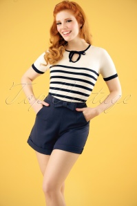 Banned Betsey Shorts Navy 24276 04W