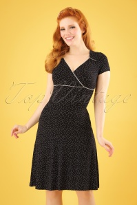Vive Maria Camille Dotted Black Dress 106 14 25138 01W