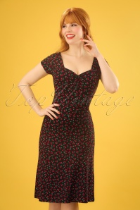 50s Heidi Cherise Dress in Black